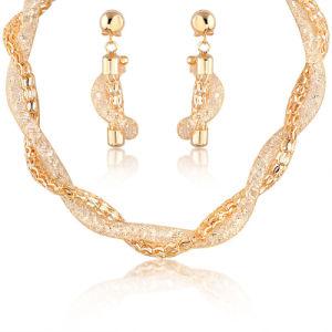 2018 ori di cristallo Wedding dell'orecchino 18K della collana hanno placcato l'insieme dei monili