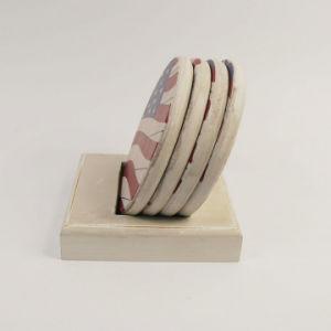 Ecológica de buena calidad personalizada Regalo promocional de la Copa de madera Coaster Mat