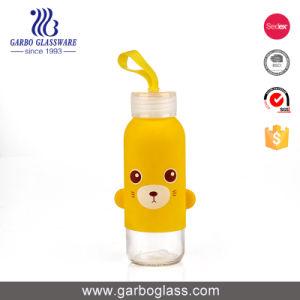 300ml färbte gedruckte Glaswasser-Flasche mit kundenspezifischem Firmenzeichen