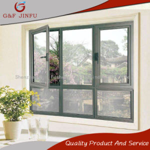 Алюминиевый профиль с двойными стеклами порошковое дверная рама перемещена окна