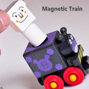 Les enfants cadeau de Noël en bois Thomas de former des blocs de wagons de jouets éducatifs
