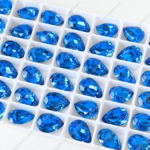 Pujiang dekoratives Silber gefaltete Kristallraupen für die Schmucksache-Herstellung