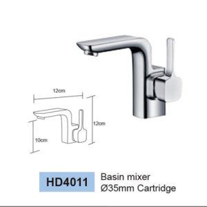 オーストラリア標準衛生製品新しいデザイン円形の真鍮ボディクロムによってめっきされる浴室の単一のレバーのコック(HD4231STD7)