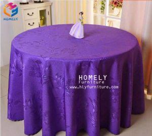 도매 호화스러운 결혼식 훈장 둥근 상보 폴리에스테 다마스크천 테이블 피복