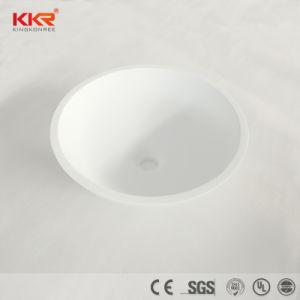 Meubles de salle de bains acrylique Surface solide de forme ovale du bassin de lavage
