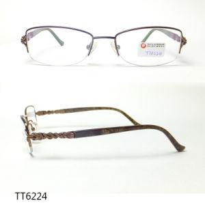 Het super Slanke Roestvrije Optische Frame van het Metaal (TT 6224)