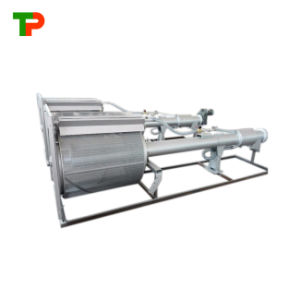 La energía eléctrica e hidráulica del filtro de tambor