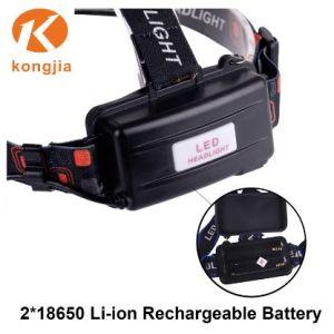 再充電可能な鉱山ライト上10W長距離LEDのヘッド懐中電燈