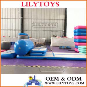 Материал Dwf надувной воздушный контакт спортзал коврик, надувной воздушный тумблер контакт, надувной воздушный контакт, надувные йога коврик, надувные спортзал коврик