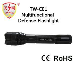 18500リチウム電池が付いているアルミニウム警察の機密保護の懐中電燈はスタン銃を