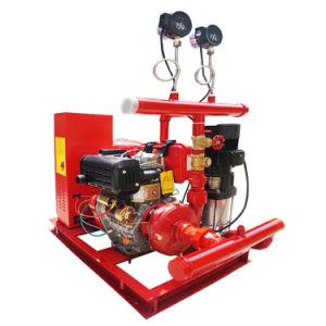 Pompe de combat avec des installations d'extinction automatique d'incendie
