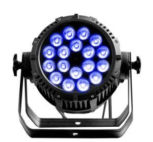 Impermeable al aire libre 18*18W 6en1 LED de la etapa de DJ Luz PAR