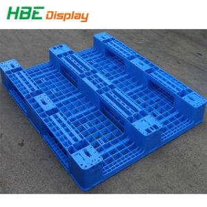 pallets Met platte kop van het Palet van de Steunbalken van 1200*800*150mm de Stapelbare 3 Duurzame Plastic