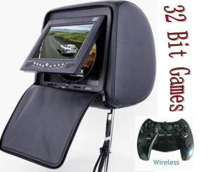 7 TFT LCD Headrest DVD with GAME Function