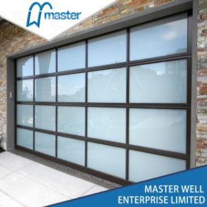 Под действием электропривода алюминиевых изолированный матового закаленного стекла/поликарбоната/органического стекла полный вид верхней двери гаража