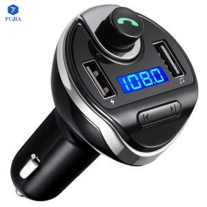 차 MP3 선수 FM 전송기 Bt 핸즈프리 차 장비 차 USB 충전기 Bluetooth FM 전송기