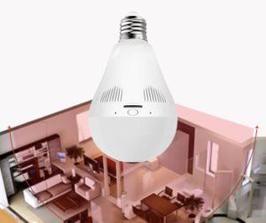 360 Grad-drahtlose Beleuchtung u. Überwachung Omni-Richtung inländisches Wertpapier IP-Kamera