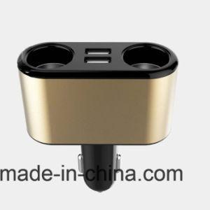 Diseño de Moda Cup forma 2 socket de mechero Cargador de coche USB Dual 3.1A