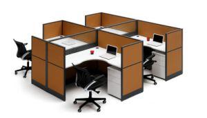 Stazione di lavoro di legno del banco del gruppo di lavoro dell'ufficio delle foto moderne del cubicolo (SZ-WS252)