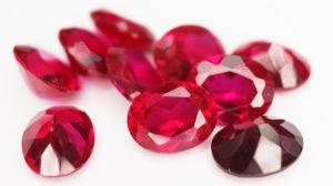 卸し売り5#総合的な鋼玉石の赤い楕円形の形のルビー