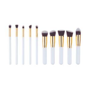 Reeks van de Borstel van de Schoonheid van de Borstels 10PCS van de make-up de Nieuwe Gezichts Kosmetische
