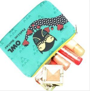 La impresión de logotipo personalizado de promoción de la bolsa de lona moneda bolso con cremallera