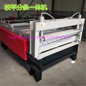 L'aplatissement de tôle en acier de la machine avec le refendage et dispositif de coupe