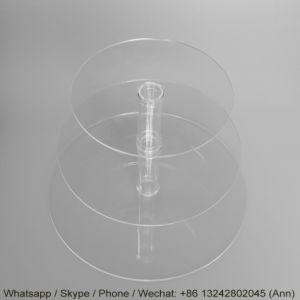 装飾的な昇進のための円形のアクリルの陳列だな/ケーキによって形づけられる表示