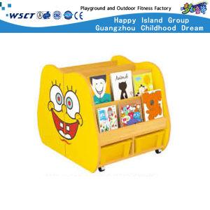 Diseño de los animales a los niños Los niños estantería estantería de madera Armario de almacenamiento (Hc-3706)