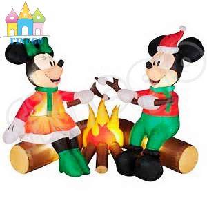 décoration gonflable noel Noël gonflable Mickey Mouse avec l'incendie pour la décoration  décoration gonflable noel