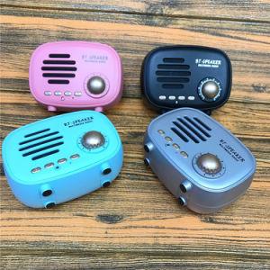 Nouveau American-Style Retro Mini haut-parleur portable Bluetooth Vintage Q108 Lecteur de musique de radio FM stéréo