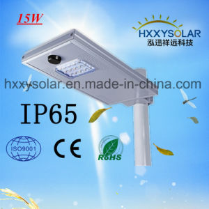15W統合された太陽LEDの街灯