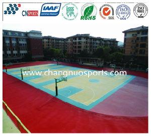 Pavimentazione di gomma di sicurezza e variopinta di sport, pavimento decorativo comodo del campo da giuoco
