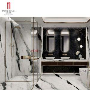 При размещении всех детей со сверхнизким энергопотреблением Panda белого мрамора в силу большого размера Large Format Оформление слоя из фарфора искусственного металлокерамические камня в ванной полы и стены оформлены