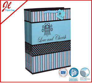 こつの札とのバレンタインデーの青いバレンタインのギフト袋