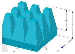 Mousse de PU amortisseur pyramidale de micro-ondes pour chambre RF