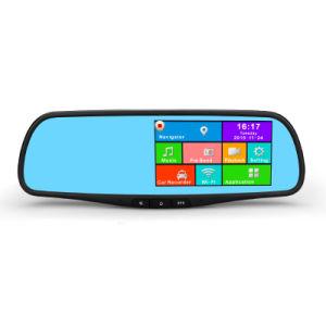 Vorderer und hinterer Gedankenstrich-Nocken 5 Kamera des Zoll-androide Screen-Auto-Spiegel-DVR mit GPS-Auto Flugschreiber und WiFi