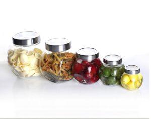 Vaso di vetro per miele, ostruzione, alimento, sottaceto 200ml/450ml/750ml/1400ml/2200ml