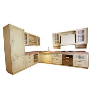 卸し売り贅沢なL字型アメリカの食器棚