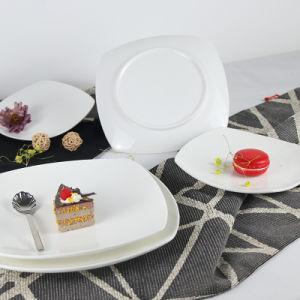 Plaque en céramique carrée de la plaque du dîner pour l'hôtel Set de table