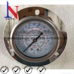 工場によって作り出される冷却するBourdon管の背部接続の圧力計