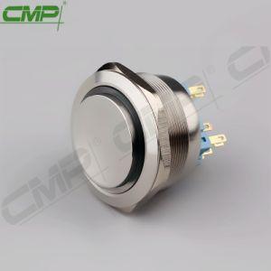 Metálica de acero inoxidable de alta calidad Interruptor Pulsador de 40mm con LED RGB de 3 colores
