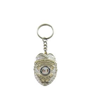 На заводе прямой продажи Custom умирают обрушился на латунные полиции металлические цепочки ключей для мобильных ПК для сотрудника (004)