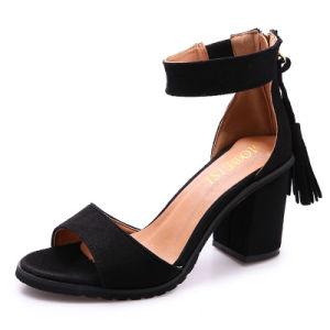 Pattini della data del vestito dalla cinghia dell'inarcamento del tallone del blocchetto dei sandali del gladiatore delle donne
