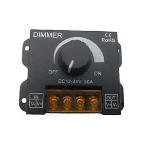 30A 12V/24V Perilla manual único color TIRA DE LEDS Dimmer