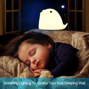 Noten-Nachtlicht der Qualitäts-buntes LED für Baby mit weichem Silikon-Shell