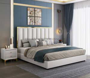 Cama de cuero para China Dormitorio muebles de cuero Sofá-Cama cama King Size