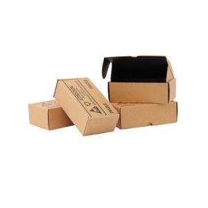 Comercio al por mayor de tamaño personalizado de impresión a doble cara plegable marrón exclusivas gafas de sol ropa de embalaje de envío de correo Express Caja de papel cartón ondulado