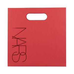 Rojo personalizado el logotipo impreso el papel de estraza Bolsa con asa de troquel