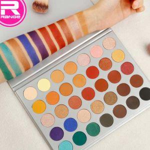 Цветовые палитры Eyeshadow OEM 35 цветов матовая бумага для макияжа глаз палитры теней
